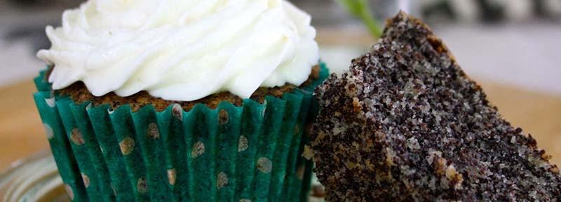 Ge-backen: Mohn-Zitronen Cupcake