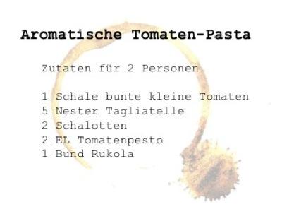 Rezept Tomatenpasta