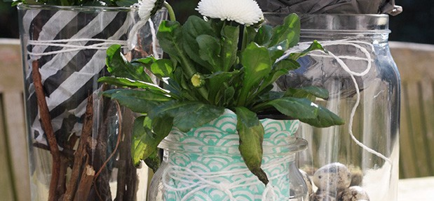 Ge-bastelt: Frühlingsblumen im Glas