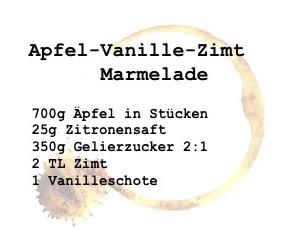 Apfel Marmelade Rezept die Zutaten