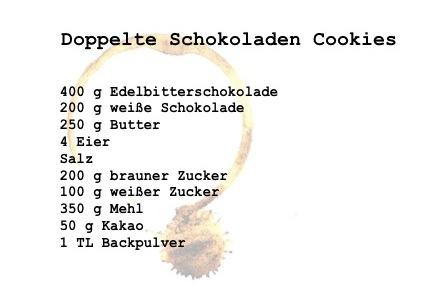 Rezept Schoko Cookies