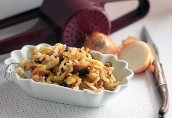 selbst gemachte Käse-Spätzle