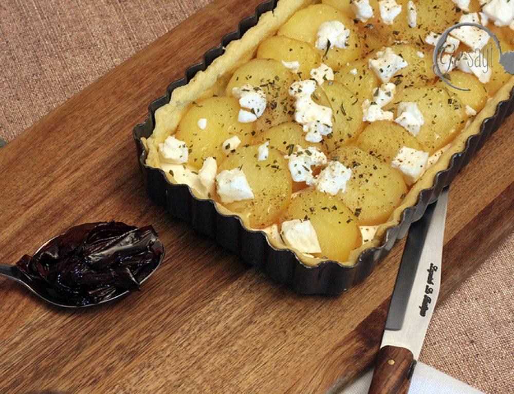 Ge-kocht: Kartoffel-Tarte mit Ziegenkäse