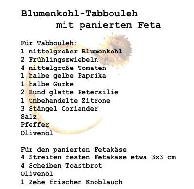 blumenkohltabouleh Rezept