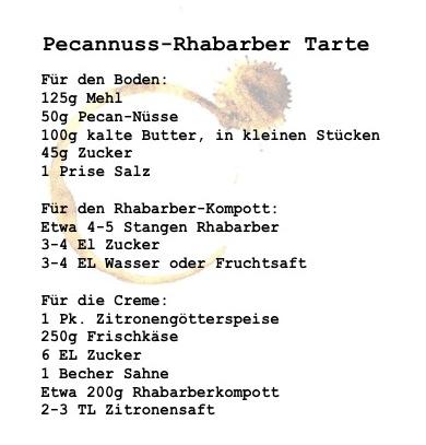 Rhabarber-Pecannuss Rezept