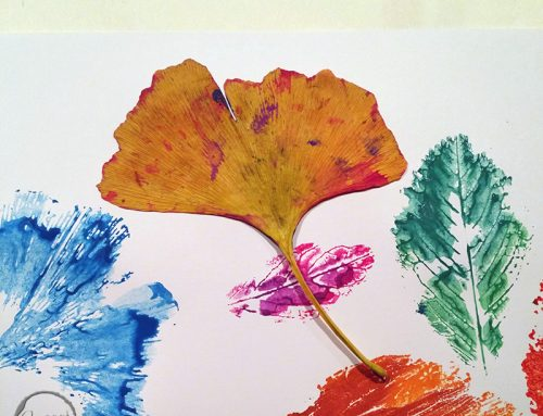 Ge-bastelt: Bilder aus Herbstblaettern