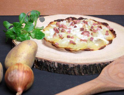 Ge-kocht: Kartoffelflammkuchen ohne Teig